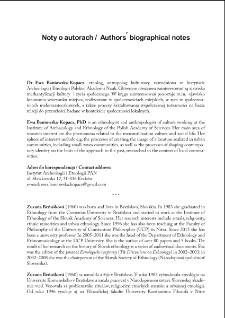 Noty o autorach / Authors' biographical notes
