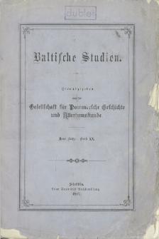 Baltische Studien. Neue Folge Bd. 20 (1917)