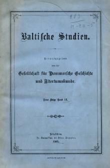 Baltische Studien. Neue Folge Bd. 9 (1905)