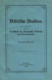 Baltische Studien. Neue Folge Bd. 29 (1927)