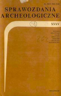 Sprawozdania Archeologiczne T. 35 (1983), Omówienia i recenzje