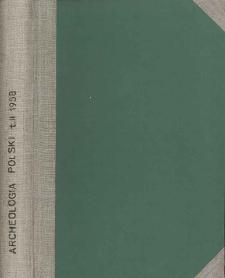 Archeologia Polski. Vol. 2 (1958) No 1, Spis treści