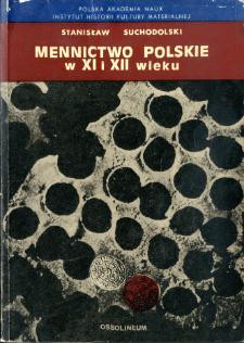 Mennictwo polskie w XI i XII wieku
