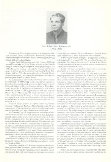 Prof. dr hab. Józef Kaźmierczyk (1926-1993)