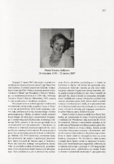 Maria Norska-Gulkowa (24 września 1930 - 23 marca 2007)