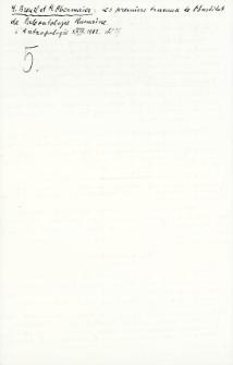 H. Breuil, H. Obermaier : Les premiers ...