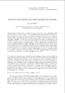 Sudan's Tea Ladies and the Legacy of Slavery