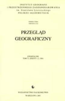 Przegląd Geograficzny T. 73 z. 1-2 (2001)