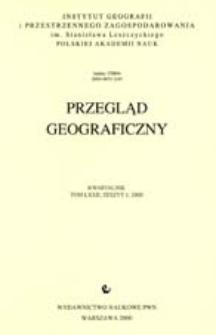 Przegląd Geograficzny T. 72 z. 4 (2000)