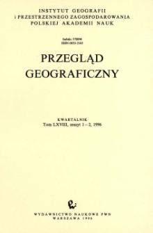 Przegląd Geograficzny T. 68 z. 1-2 (1996)