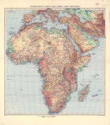 Physikalische Karte von Afrika und Westasien