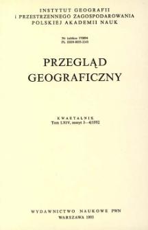 Przegląd Geograficzny T. 64 z. 3-4 (1992)