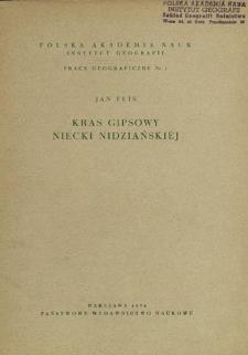 Kras gipsowy Niecki Nidziańskiej = Gypsum karst of the Nida Trough = Gipsovyj karst Nidzjanskoj Mul'dy