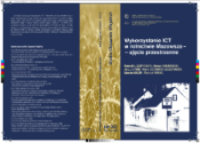 Wykorzystanie ICT w rolnictwie Mazowsza - ujęcie przestrzenne