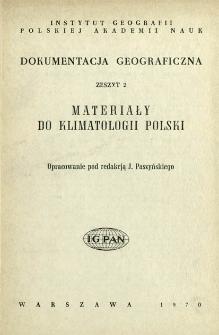 Materiały do klimatologii Polski