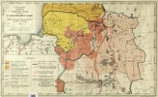 Carte etnographique et politique des territoires de l'ancien Grand Duché de Lithuanie avec le tableau statistique