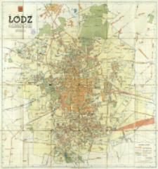 Miasto Łódź, województwo grodzkie : plan orientacyjny miasta w granicach z roku 1946