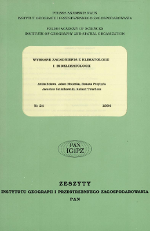 Wybrane zagadnienia z klimatologii i bioklimatologii = Climatology and bioklimatology : selected research issues