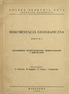 Zagadnienia hydrograficzne, morfologiczne i surowcowe