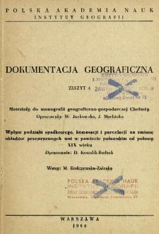 Materiały do monografii geograficzno-gospodarczej Chełmży