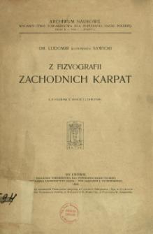 Z fizyografii Zachodnich Karpat