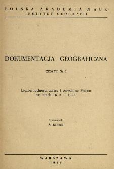 Liczba ludności miast i osiedli w Polsce w latach 1810-1955
