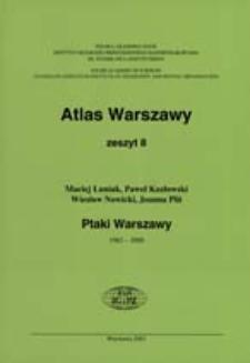 Ptaki Warszawy : 1962-2000