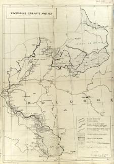 Zachodnia granica Polski : [mapa polityczna]