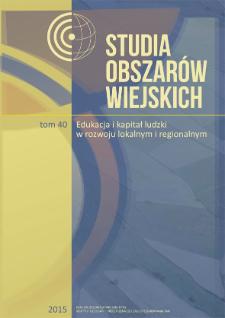 Obraz wsi i rolnictwa w polskich i angielskich podręcznikach do geografii = Image of countryside and agriculture in Polish and English geography textbooks