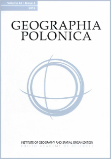 Geographia Polonica Vol. 89 No. 4 (2016), Contents