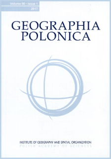 Geographia Polonica Vol. 90 No. 1 (2017), Contents