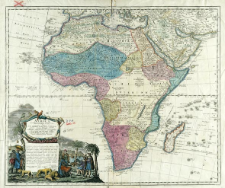 Africa : Secundum legitimas Projectionis Stereographicæ regulas et juxta recentissimas relationes et observationes in subsidium vocatis quoque veterum Leonis Africani Nubiensis Geographi [...]