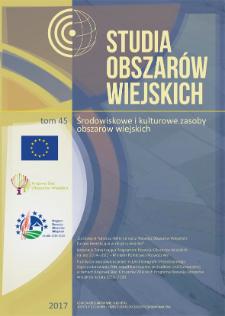 Krajobraz wsi Ługwałd ijego współczesne transformacje = Landscape of the Ługwałd village and its contemporary transformations