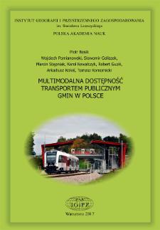 Multimodalna dostępność transportem publicznym gmin w Polsce (MULTIMODACC) = Multimodal public transport accessibility of Polish gminas/municipalities (MULTIMODACC)