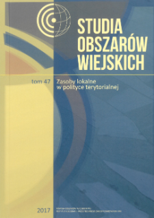 Zasoby lokalne obszarów wiejskich w strefach podmiejskich – endogeniczny czynnik rozwoju czy efekt wpływu miasta centralnego = Local resources of rural areas in suburban areas – endogenous development factor or the effect of the central city impact
