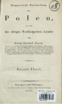 Geognostische Beschreibung von Polen, so wie der übrigen Nordkarpathen-Länder. T. 1