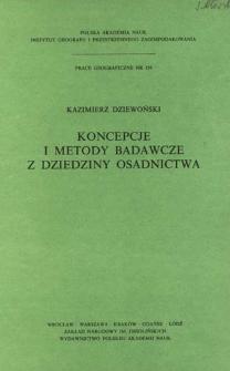 Koncepcje i metody badawcze z dziedziny osadnictwa = Koncepcii i metody issledovanij rasseleniâ = Concepts and methods in research on settlement