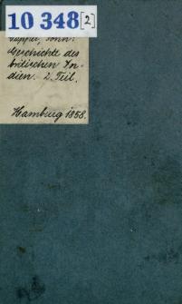 Geschichte des britischen Indien von seinen frühesten Urkunden bis zur Gegenwart : Beschreibung seiner Natur, Regierung, Religion, Sitten u. s. w. T. 2
