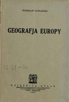Geografja Europy : podręcznik dla klas wyższych szkół średnich