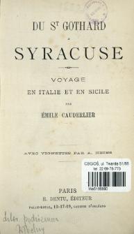 Du St Gothard a Syracuse : voyage en Italie et en Sicile