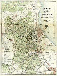 Special-Karte zum Führer für Wald und Umgebung von Zoppot und Oliva