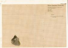 KZG, V 14 A, plan wykopu archeologicznego
