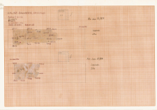 KZG, V 14 A, plan archeologiczny wykopu