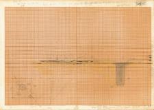 KZG, V 14 A, plan i profil archeologiczny wykopu i jamy posłupowej