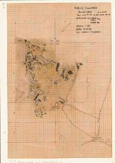 KZG, V 14 AC, plan archeologiczny wykopu