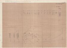 KZG, V 14 CD, 14 AB, plan archeologiczny (szkic) wykopu, profile słupków