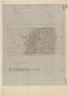 KZG, VI 402 B, plan archeologiczny wykopu