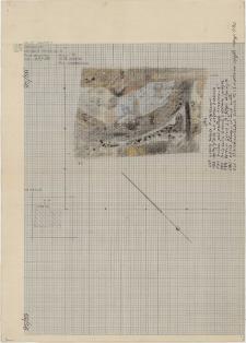 KZG, VI 401 B, plan archeologiczny wykopu