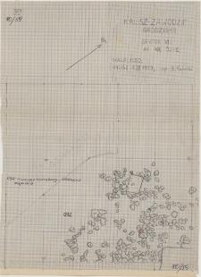 KZG, VI 401 C, plan archeologiczny wykopu