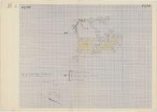 KZG, VI 401 CD, plan archeologiczny wykopu